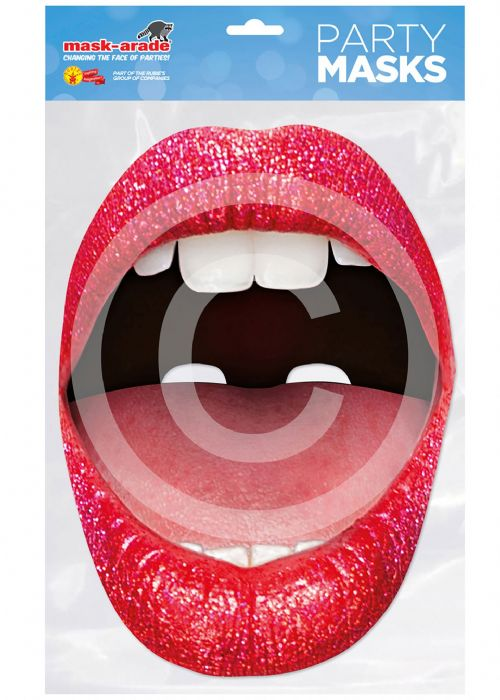 Lips Mouth Card Mask Halloween Trick Or Treat Fancy Dress